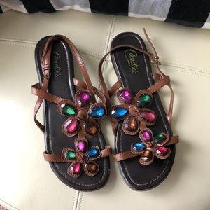 Sandals with flower gemstones 🌸